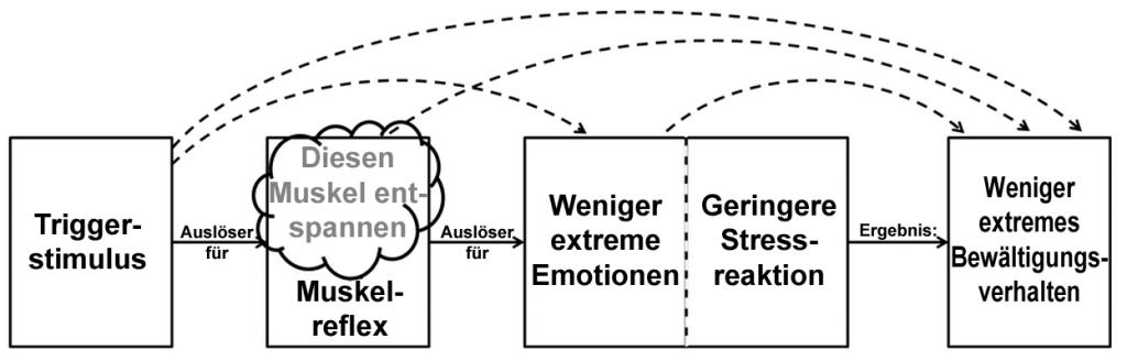 Die Entspannung des Triggermuskels unterbricht die misophonische Reaktionskette nachhaltig