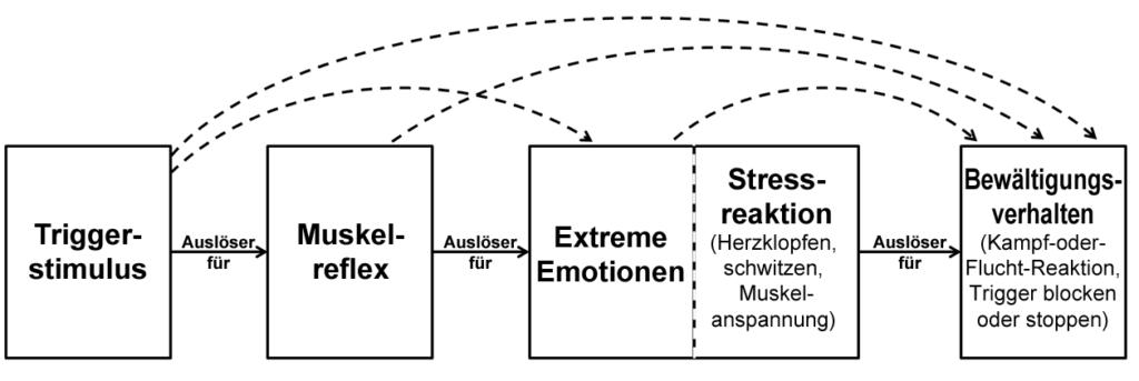 Alle Elemente zwischen dem Triggerstimulus und der emotionalen Reaktion