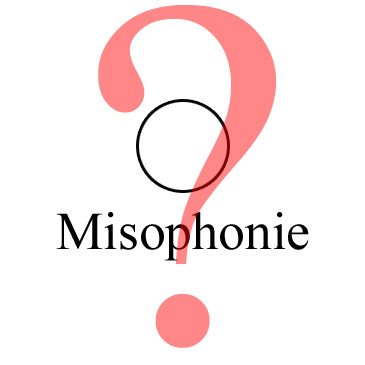 Schriftzug Misophonie mit einem Kroßen Fragezeichen darüber
