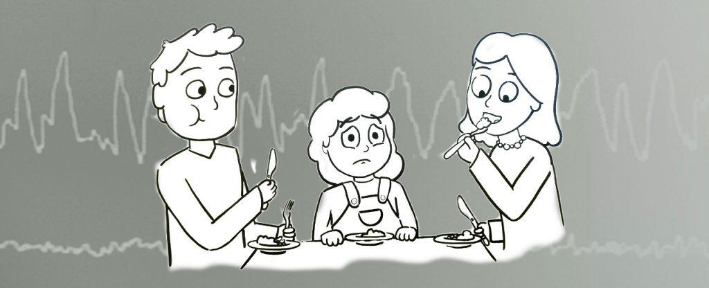 Misophonie - Familie beim Essen